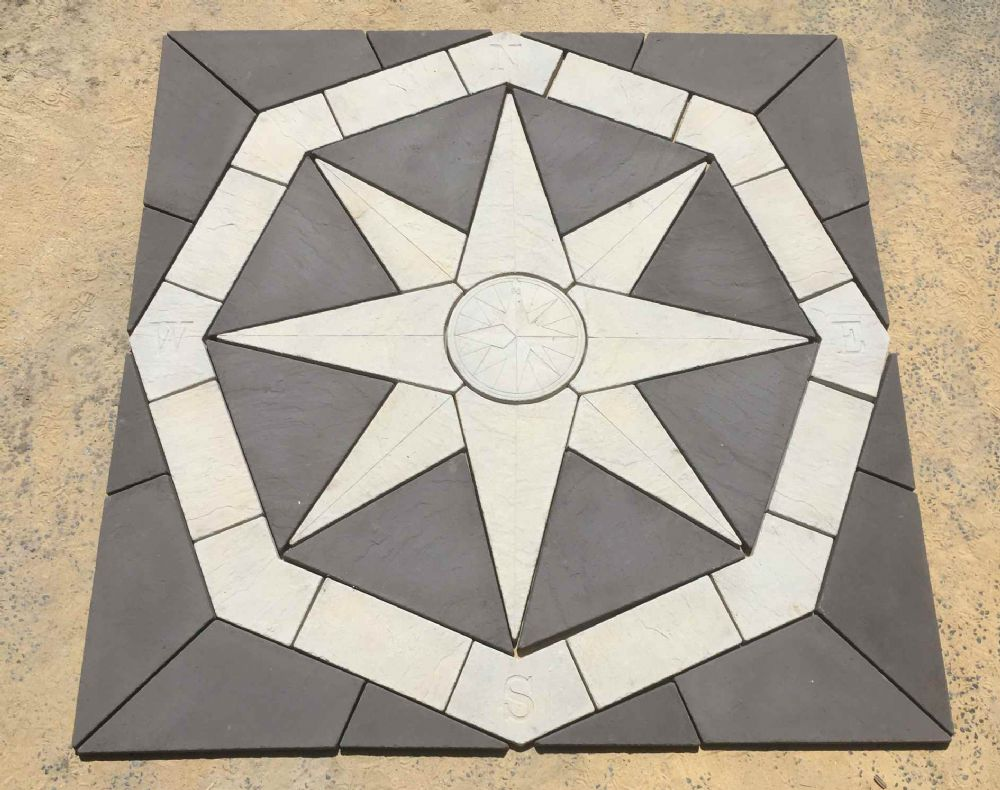 2400mm Octagonal Compass Kit Slate Grey and White